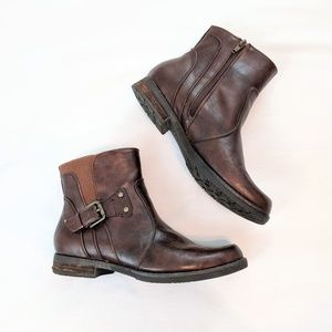 Bare Traps Judie Brown Faux Leather Ankle Boots